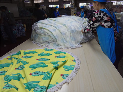 round beach towel manufacturer