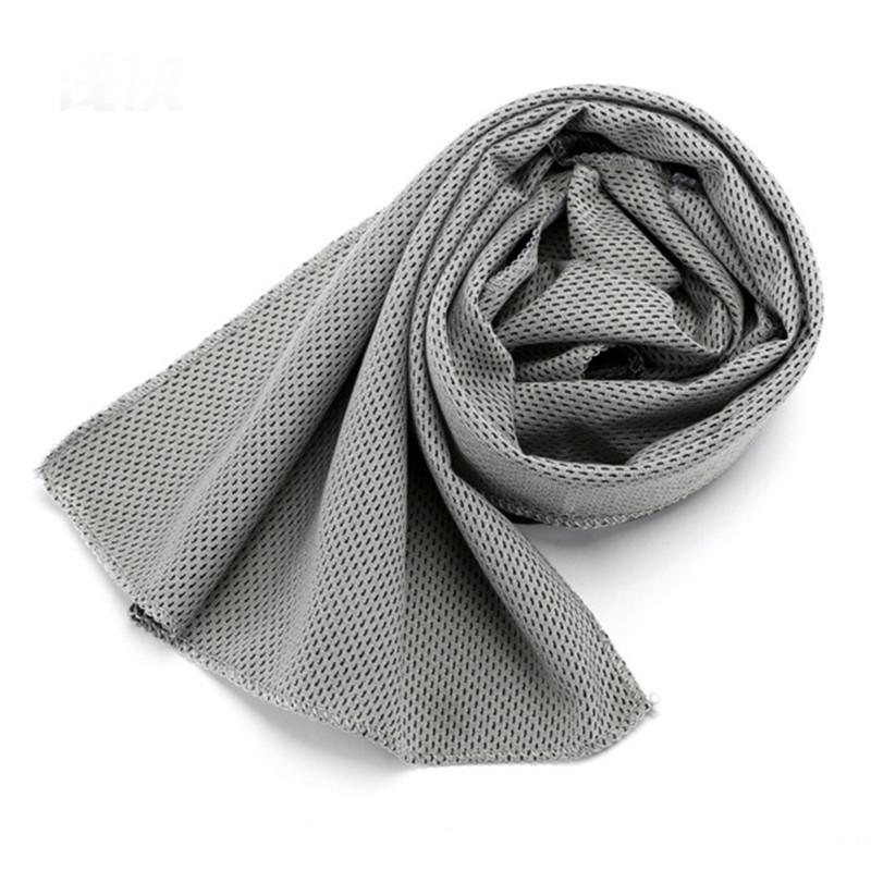 grey cooling towel