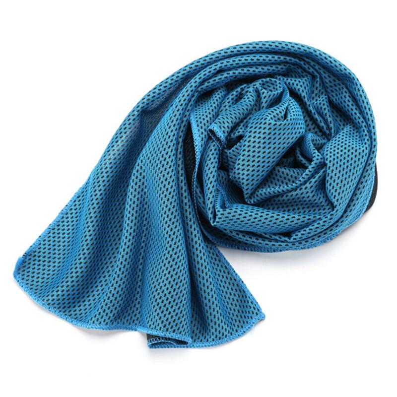 blue cooling towel