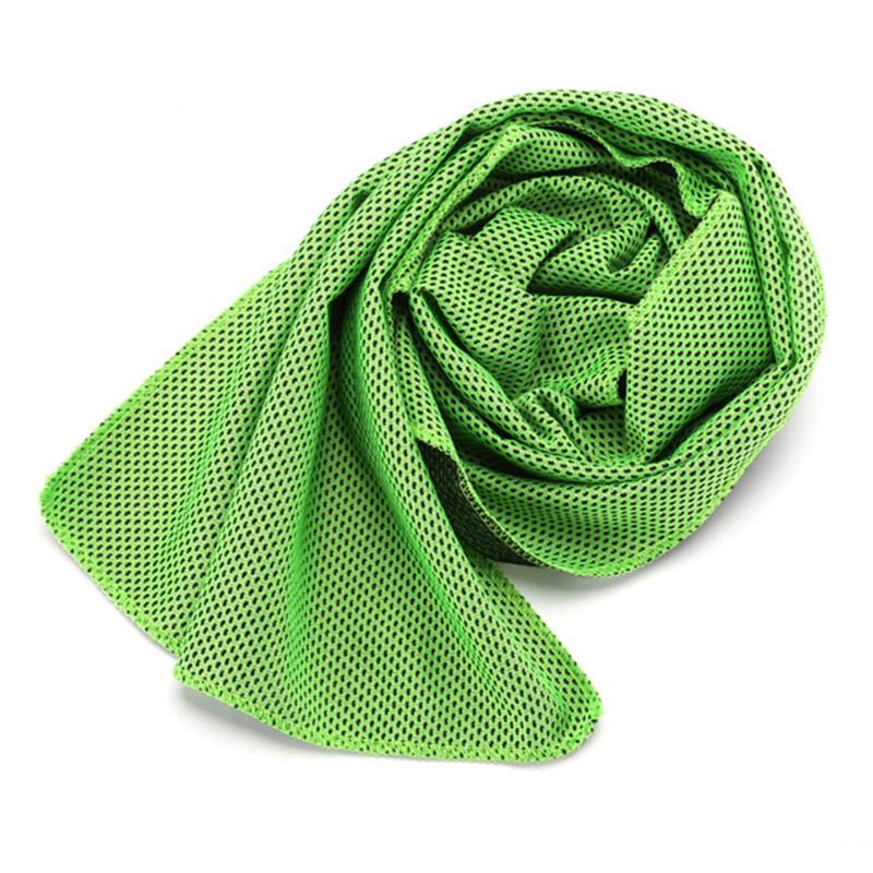 green cooling towel