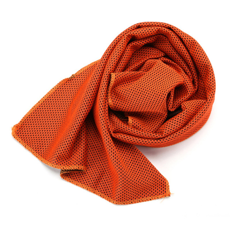 yellow cooling towel