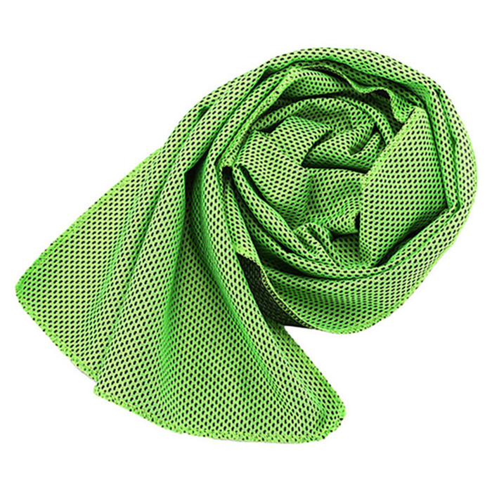 green arctic ice towel